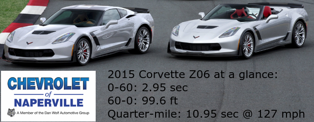 Zero-to-60 performance of the 2015 Z06
